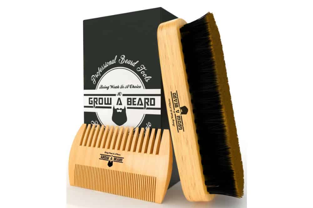 Grow A Beard - Beard Brush and Comb Set for Men Review